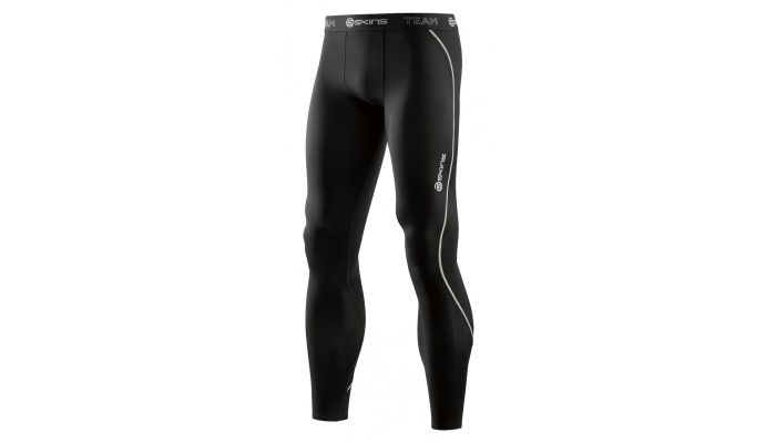 Skins DNAmic Team Mens Long Tights Black